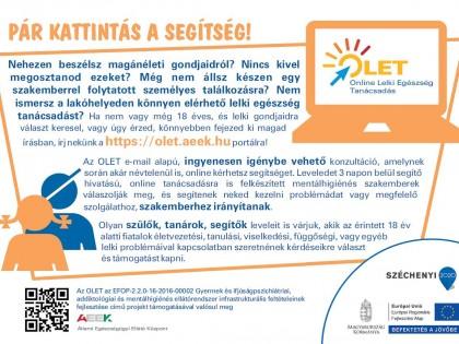 OLET – Online Lelki Egészség Tanácsadás
